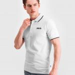 Brand Metal Logo Polo Shirt White