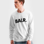 Brand Crew Neck Sweater Wit