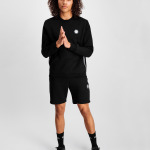 Q-Series Metal Hexagon Badge Crew Neck Sweater Black