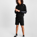 LOAB Webbing-Trimmed Shorts Black