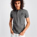 BALR. Badge Polo Shirt Grijs
