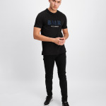 Black Label - Embroidered Logo T-Shirt Zwart