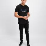 Black Label - Embroidered Logo T-Shirt Black