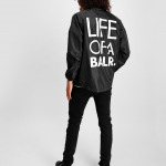 LOAB Logo Jacket Black