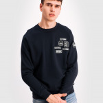 BALR. Badge Crew Neck Sweater Navy