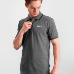 Brand Metal Logo Polo Shirt Grijs