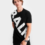 Tilted Logo T-Shirt Black