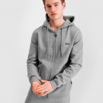 Q-series Zipped Hoodie Grey