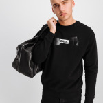 Tape Logo Crew neck Sweater Zwart
