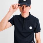 Q-Series Metal Hexagon Badge Polo Shirt Navy