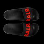 BALR. slipper zwart/rood