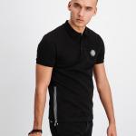 Q-Series Metal Hexagon Badge Polo Shirt Black