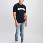 LOAB Boxed Logo T-Shirt Marineblauw