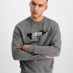 Tape Logo Crew neck Sweater Grey